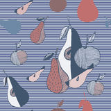 Frutas estilizadas del extracto Imagenes de archivo