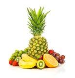 Frutas exóticas aisladas en blanco Fotografía de archivo libre de regalías