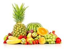 Frutas exóticas aisladas en blanco Imagen de archivo