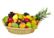 Frutas exóticas em uma cesta Imagens de Stock