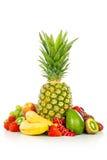 Frutas exóticas isoladas no branco Foto de Stock