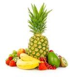 Frutas exóticas isoladas no branco Foto de Stock Royalty Free
