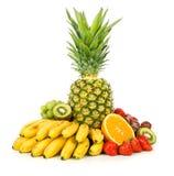 Frutas exóticas isoladas no branco Fotografia de Stock