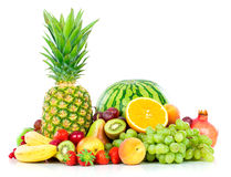 Frutas exóticas isoladas no branco Fotografia de Stock Royalty Free