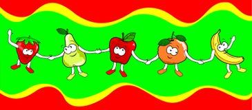 Frutas felizes Foto de Stock