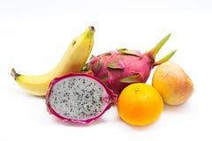 Frutas frescas aisladas Imágenes de archivo libres de regalías
