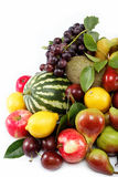 Frutas frescas aisladas en un fondo blanco. Fotos de archivo libres de regalías