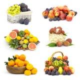 Frutas frescas - collage fotografía de archivo