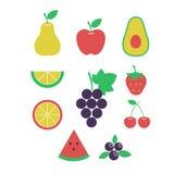 Frutas frescas Conjunto de frutas ilustración del vector