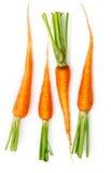 Frutas frescas da cenoura com folhas verdes Foto de Stock