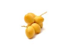 Frutas frescas da tâmara Foto de Stock Royalty Free
