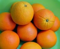 Frutas frescas de la naranja navel Fotos de archivo