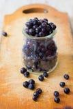 Frutas frescas del arándano Foto de archivo libre de regalías