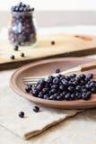 Frutas frescas del arándano Fotografía de archivo libre de regalías