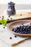 Frutas frescas del arándano Imagen de archivo libre de regalías