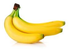 Frutas frescas del plátano aisladas Fotos de archivo libres de regalías