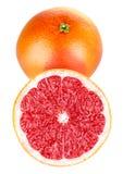 Frutas frescas del pomelo en corte Imagenes de archivo