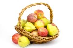 Frutas frescas em uma cesta foto de stock