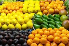 Frutas frescas mercado Primer fotografía de archivo libre de regalías