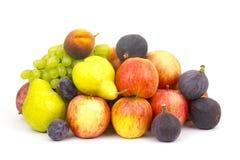 Frutas frescas no branco foto de stock
