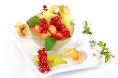 Frutas frescas seridas na bacia do melão Imagem de Stock