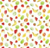 Frutas - fundo sem emenda Imagem de Stock