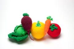 Frutas hechas punto Foto de archivo