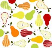 Frutas, iconos de las peras Fotografía de archivo libre de regalías