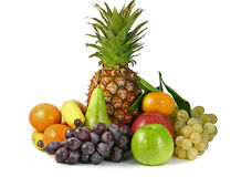 Frutas isoladas Foto de Stock