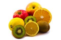 Frutas isoladas no branco Imagens de Stock