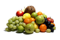 Frutas isoladas no branco Imagem de Stock