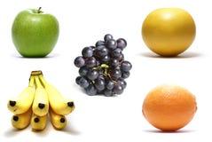 Frutas isoladas no branco fotografia de stock royalty free