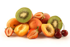 Frutas isoladas no branco Imagem de Stock Royalty Free