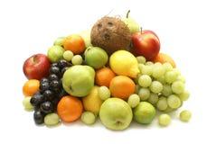 Frutas isoladas no branco Fotos de Stock Royalty Free