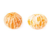 Frutas jugosas frescas de las mandarinas aisladas sobre el fondo blanco Imagen de archivo libre de regalías