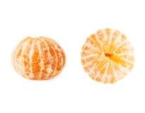 Frutas jugosas frescas de las mandarinas aisladas sobre el fondo blanco Foto de archivo libre de regalías