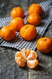 Frutas maduras de la mandarina Imagenes de archivo