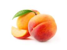 Frutas maduras do pêssego fotografia de stock royalty free