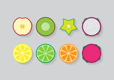 Frutas mezcladas de la diapositiva Foto de archivo libre de regalías