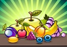 Frutas na tabela Ilustração Royalty Free