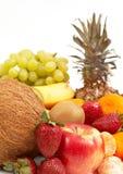 Frutas no branco Fotografia de Stock
