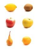 Frutas no fundo branco Imagem de Stock Royalty Free