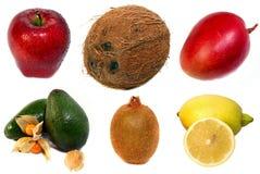 Frutas no fundo branco Foto de Stock