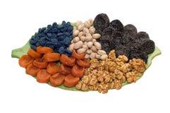 Frutas Nuts e secadas Imagem de Stock