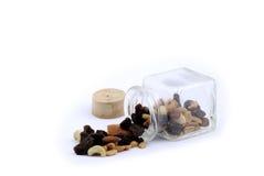 Frutas Nuts y secadas Foto de archivo libre de regalías