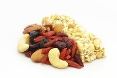 Frutas Nuts y secadas Fotografía de archivo libre de regalías