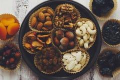 Frutas Nuts y secadas Fotografía de archivo