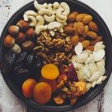 Frutas Nuts y secadas Fotos de archivo libres de regalías