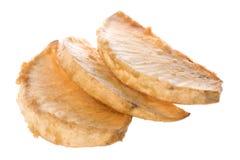 Frutas-pão fritadas isoladas fotografia de stock royalty free