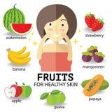 Frutas para la piel heathy Imagen de archivo libre de regalías